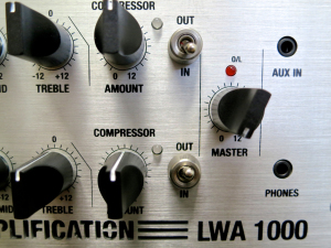 Warwick LWA 1000 – front panel comp + master